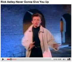 Rick Astley Would Never Pie Chart Rickrolling Wikipedia