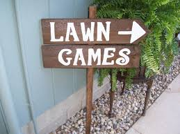 Wooden Lawn Games Wedding Lawn Games Signs Outdoor Weddings Yard Corn Hole Ladder 77