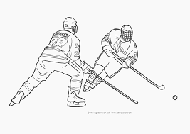 Helpful Hockey Colouring Pictures Approved Coloring Book Page