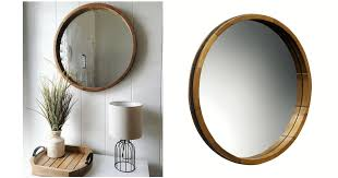 wood barrel frame round mirror 3 80 was 40 new clearance target circle mirror round decorative wall
