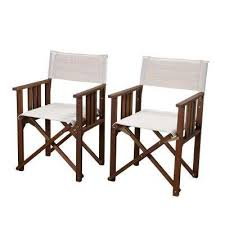 director rio eucalyptus chairs with off white