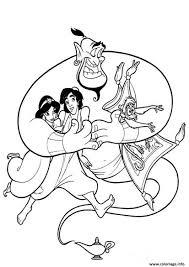 Coloriage Aladdin Jasmine Et Le Magicien Dessin