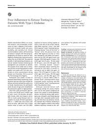 poor adherence to ketone testing in patients type diabetes  pdf extract preview