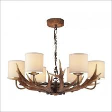 rectangular crystal chandelier with black shade for dining room wooden lighting wood metal and bronze