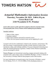 So You Want To Be An Actuary University Of Windsor Mathematics