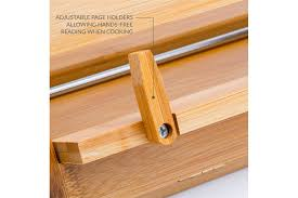 andrew james wooden cookbook stand for kitchen adjule recipe ipad book stand for display made