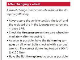 Tire Torque Chart 2016 Lug Bolt Torque Audiworld Forums