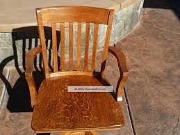 antique tiger oak swivel lawyer mission desk chair murphy co