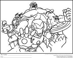 Avengers Coloring Pages Free Printable Wumingme