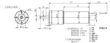 brushless dc motor encoder 12v 1 3a little bird dimensional drawing · wiring diagram · datasheet