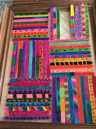 Grade 1 Class Popsicle Stick Art Project | Glue Gun Gypsies & ….and decided that the quilt square design (although my favourite) would  not work so I went with just placing them vertically. Adamdwight.com