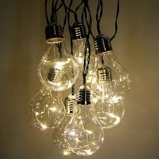 led vintage light bulb string lights white