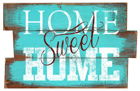 Small Picture Home Sweet Home Wood Plank Sign Contemporary Novelty Signs