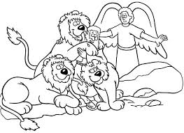 Small Picture Daniel Saved from an Angel in Daniel and the Lions Den Coloring