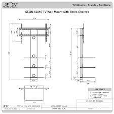 how it measures up this tv wall mount with three shelves measures 48 tall from bottom to top of column which is not including tv height