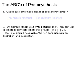 Photosynthesis Alphabet Chart Co 7 Chapter 10 Photosynthesis Name A Plant You Have Seen