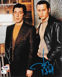 donnie brasco al pacino johnny depp rare dual signed 8 x 10 color photo
