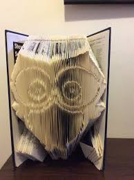pattern for folded book art owl instant pdf by marciasmemories