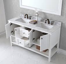 spacious free standing bathroom sink. virtu usa winterfell 60 bathroom vanity cabinet in white spacious free standing sink l