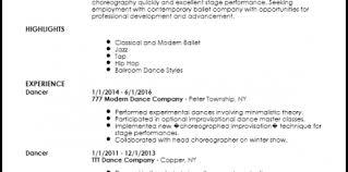 Modern Dance Resume Dance Resume Template 7399 Gahospital Pricecheck