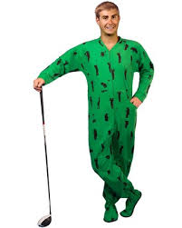 plus size footed pajamas pajamacity golf print green cotton flannel one piece footie pajamas