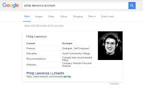 google displaying linkedin data snippets while searching for resumes