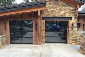 Splendid Garage Doors With Oak Wood Sash Frames Combined Wooden Leaf