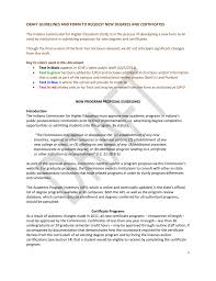 Draft Iche Guidelines And Form To Request New Degrees