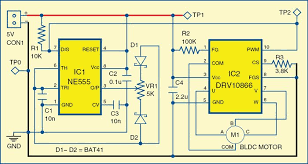 brushless dc motor driver full project circuit available circuit of brushless dc motor driver
