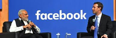 facebook office in usa. prime minister modi town hall meeting with mr mark zuckerberg of facebook office in usa