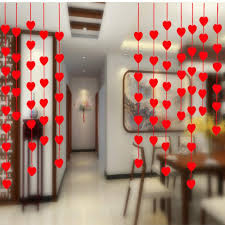 2018 whole heart shape wall hanging paper garlands string chain banner handmade room door home decoration wedding party 3 m long 6zsh282 from aurorl