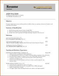 Resume Objective Education Teacher Resume Objective Resume Name 10