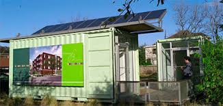 shipping containers office. The Solar-powered Portable Building Fashioned From Recycled Shipping Containers Office