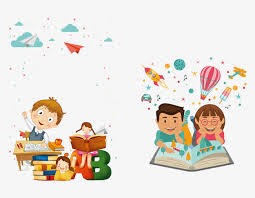 cartoon reading learning reading clipart read a book study png and psd