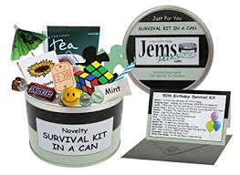 50th birthday survival kit in a can happy 50th birthday all in one gift