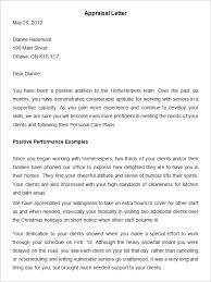 appraisal letter performance letter template 22 appraisal letters free sample example