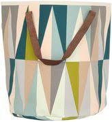ferm living grid laundry basket. ferm living spear hand-printed laundry basket living grid