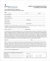 Background Check Authorization Form Simple Sample Background Check Authorization Form 44 Free Documents In