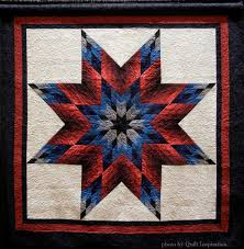 Quilt Inspiration: Lone Star Salute & Jill Scherer says that she makes a new patriotic quilt each year, which she  displays on July 4th. In her Patriotic Lone Star, carefully-placed values  of red ... Adamdwight.com