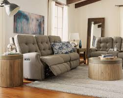 fabric power reclining sofa with power