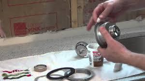 installing sink strainer. To Installing Sink Strainer