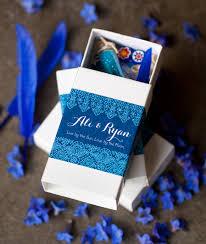 diy matchbox shrine wedding favor from my own ideas blog wedding blue henna