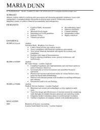Auditor Resume Template Best Of Auditor CV Example For Accounting Finance LiveCareer