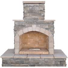 gray cultured stone propane gas outdoor fireplace frp908 3 na the home depot