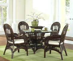 rattan dining room sets awesome chairs white table and ratta