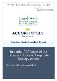 Accor Organizational Chart Pdf Strategic Management Final Capstone Report Yasmeen