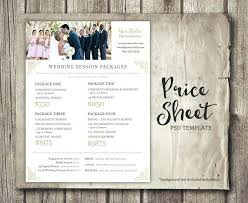 Price List Template Custom Photography Price List Template Psd Free Photography Price List