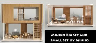 contemporary dollhouse furniture. miniko doll house contemporary dollhouse furniture