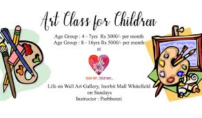 art classes for children age group 4 7yrs and 8 16yrs with parbbonni