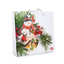 Пакет «Веселый <b>Снеговик</b>», «Азбука Вкуса», 25х25х9 см, 1 шт ...